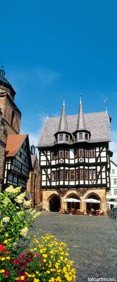 Das schöne Rathaus im Städtchen #Alsfeld in #Hessen.