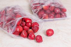 Freezing Strawberries, Frozen Strawberries, Strawberries And Cream, Quick Healthy Meals, Healthy Dessert Recipes, Desserts, Chef Recipes, Canning Recipes, Meal Recipes