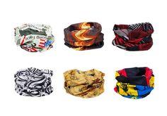 Bundle Monster 6pc Multifunctional Seamless Style Buff Bandana Hairband  Headwear Scarf Neck Wrap Beanie Cap Set d386379d8d4