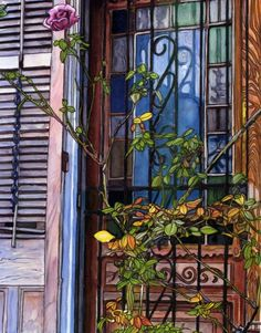 John Boles French Quarter Door with Rose.   Fine Art America