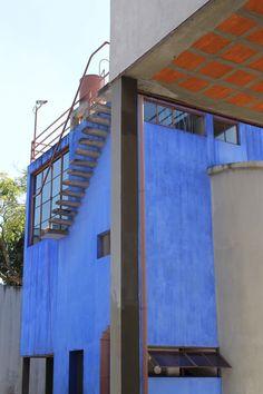 La Casa Estudio de Diego Rivera & Frida Kahlo. Construida en 1931 por el arquitecto mexicano Juan O'Gorman.