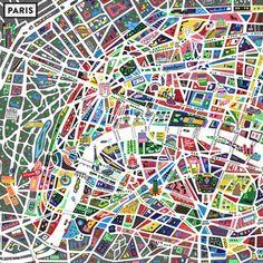 Parijs - plattegrond
