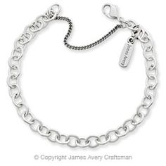 Disney Tip: Bring your own charm bracelet for Disney charms.  I heard that the bracelets there can be a little flimsy.  ~Forged Link Charm Bracelet from James Avery