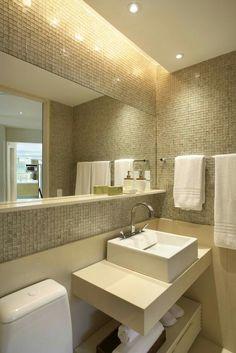 Banheiro meia parede