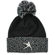 b2e41d51a6e  LacrosseUnlimited Jumpman Knit Hat-Black  Drake