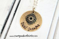 Loved Grandma Mixed Metal Filigree Necklace by youregonnalovethis gift for grandma necklace for grandma grandma necklace