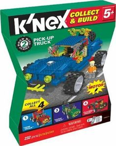 Pick-Up Truck by K'NEX. $11.99. Includes 232 pieces, including wheels, rods, connectors and more!. Combine this set  with  another Road Rig to make a giant build or with all four sets to make an ultimate build!. This set includes instructions to build at least one pick-up truck - may  be combined with other sets!. This Pick-Up Truck is part of the collectible Road Rigs Series. Motor and new K'nex figure included with each set. From the Manufacturer                K'nex Co...