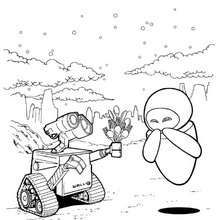 Wall E And Eve Coloring Page Jack 4th Birthday Pinterest Walls Wall E Coloring Page
