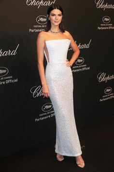 Kendall Jenner In Ralph & Russo Dress And Chopard Jewelry