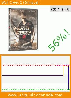 Wolf Creek 2 (Bilingual) (DVD). Drop 56%! Current price C$ 10.99, the previous price was C$ 24.99. By n/a. https://www.adquisitiocanada.com/paradox-entertainment/wolf-creek-2-bilingual