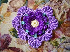 Irish crochet heart