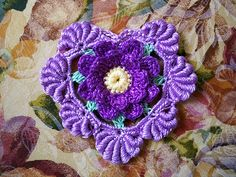 Irish crochet heart