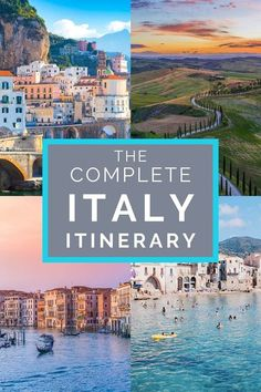How to Spend 10 Days in Italy: Five Different Itinerary Ideas - - Five amazing itineraries for your trip to Italy. Any of these Italy itineraries will guarantee an amazing trip! Cinque Terre, Italy Honeymoon, Italy Vacation, Italy Trip, Tours Of Italy, Belize Honeymoon, Wanderlust, Cool Places To Visit, Places To Travel