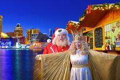 Santa at Baltimore's Inner Harbor