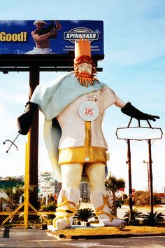 King Neptune, Panama City Beach, Florida...he was evidently there were no takers, and he was torn down in 2004.