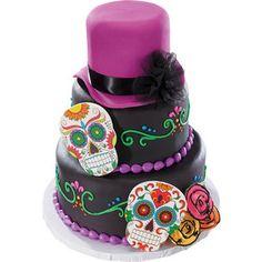 Dia de los Muertos Gum Paste Skull Cake