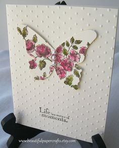 Handmade Stampin Up Butterfly Card by BeautifulPaperCrafts on Etsy, $3.00
