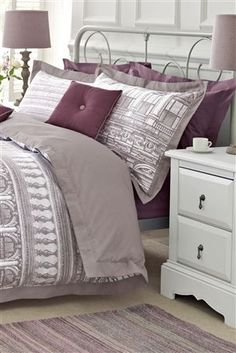 Buy Sketch Building Print Bed Set from the Next UK online shop