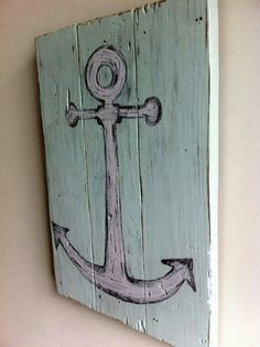 Anchor painting on wood