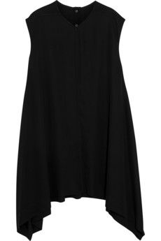 Rick Owens Asymmetric stretch-crepe dress | THE OUTNET
