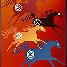 My idea of an ancient horse art..