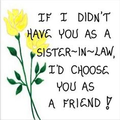 Refrigerator Magnet for Sister in Law
