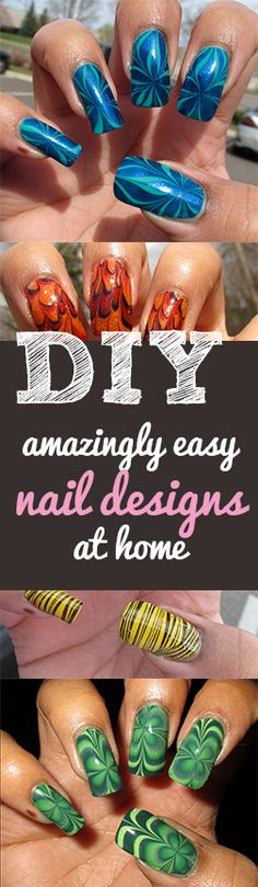 Marbled Nail Art At Home! Gotta try this! - HAVE PATIENCE WITH IT ! So worth it when you get it right !! : )