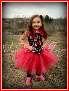 Swirly hearts Valentines corset tutu birthday pageant by Tulletime, $35.00