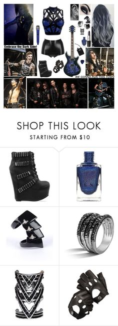 """""""Performing with Black Veil Brides ~ Show Twelve"""" by blueknight ❤ liked on Polyvore featuring Atsuko Kudo, Jeffrey Campbell, Vivienne Westwood, John Hardy, Aspinal of London and Theory"""
