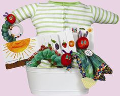 The Very Hungry Caterpillar - this caterpillar themed basket, is simply adorable.