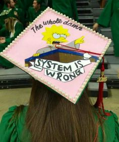 Lisa Simpson inspired college graduation cap - Decoration For Home