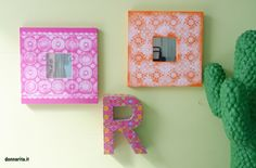 Ecco un modo semplice e d'effetto per decorare cornici con i pizzi di plastica e le bombolette spray!!
