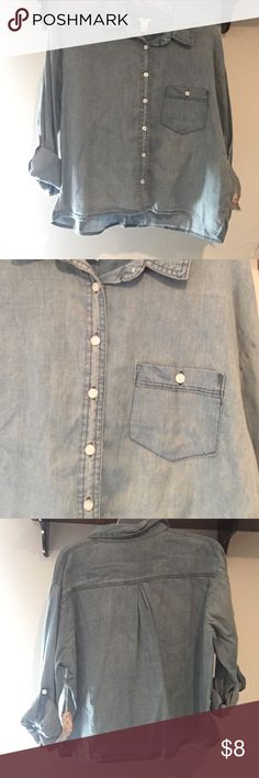❗️NEW❗️Denim shirt! Brand new with tags❗️ never worn and in great condition Forever 21 Tops Button Down Shirts