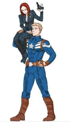 Brotp= Natasha Romanoff and Steve Rogers