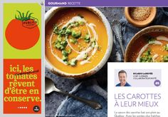 Les carottes à leurmieux - La Presse+ Sauce Tahini, Bagel, Thai Red Curry, Main Dishes, Good Food, Food And Drink, Ethnic Recipes, Fun Recipes, Cooker Recipes