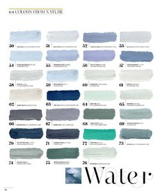 :: Havens South Designs :: loves the color palette of Water