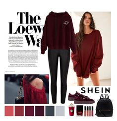 """[Shein2]"" by ninna-nightmoon ❤ liked on Polyvore featuring Loewe, Urban Outfitters, River Island, Puma, Radley, Bobbi Brown Cosmetics and Butter London"
