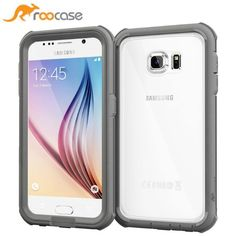rooCase Glacier Tough Clear Back Armor Full Body Case Cover for Samsung Galaxy S6 - Space Grey