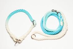 NEW Ombré set cotton rope dog leash & collar by AlohaDogs on Etsy
