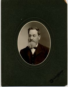 A.H. Mellish (bookseller and architect) from Brantford, Ontario. He designed the Dalhousie Street Building (used for the Expositor). Photo taken by Park & Co in Brantford, Ontario.