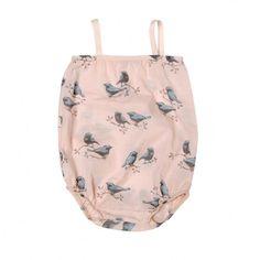 Go Gently Baby Birds Bubble Blue // PoppysCloset.com
