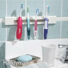 Clear up toothbrush clutter by making your own magnetic toothbrush holder!