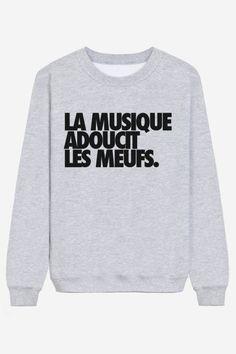 Rad | Sweater La Musique Adoucit Les Meufs - ADIEU ET A DEMAIN