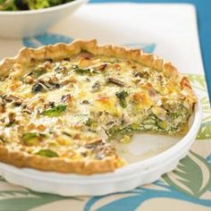 Chicken quiche with leek and mushrooms - Healthy Food Guide Great Recipes, Dinner Recipes, Favorite Recipes, Pan Dulce, Quiches, Cooking Recipes, Healthy Recipes, Healthy Food, Healthy Chicken