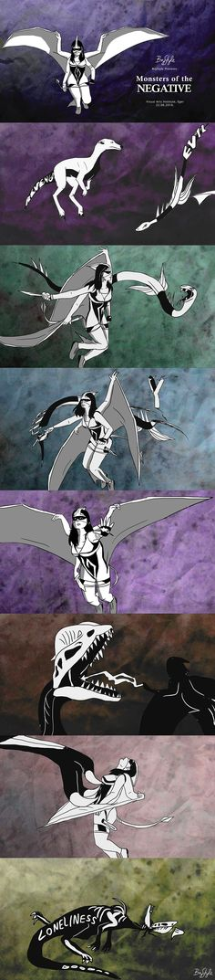 Monsters of the Negative: screenshots. Link to my animation: https://youtu.be/EigU25mI9aI  Made at the Media and Design Department, Visual Arts Institute, Eger, Hungary #BryStyle #pteranodon #superhero  #graphicdesigneger #mediadesigneger #madeineger #mdteger #unieger #visualeger #madeinvmi #vizualismuveszetiintezet #eger #visualartsinstitute #hungary #graphicdesign