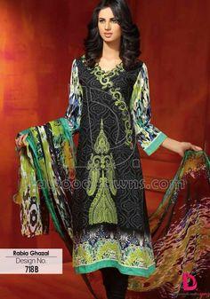 Rabia Gazal Summer Lawn Prints Volume-1 2015 by Dawood Textiles