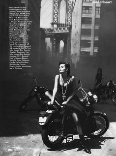 """Wild At Heart"" Helena Christensen by Peter Lindbergh for Vogue September 1991"