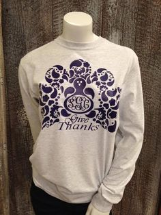 Paisley Turkey on Heather Gray Long Sleeve with Monogram | Southern Grace Creations