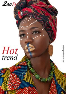 Ethnic+Fashion+Editorial | Traditional African Tribal Makeup African makeup... traditional