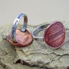 Penny for your thoughts ring. etsy.com